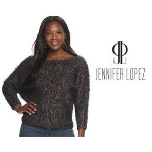 Jennifer Lopez Brown Long Sleeve Sweater Sz S NWT